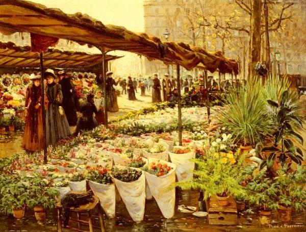 E von marche aux fleurs a la madeleine